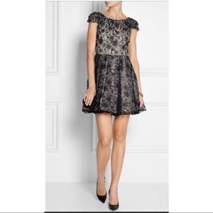 Alice and Olivia 10 black lace cocktail dress